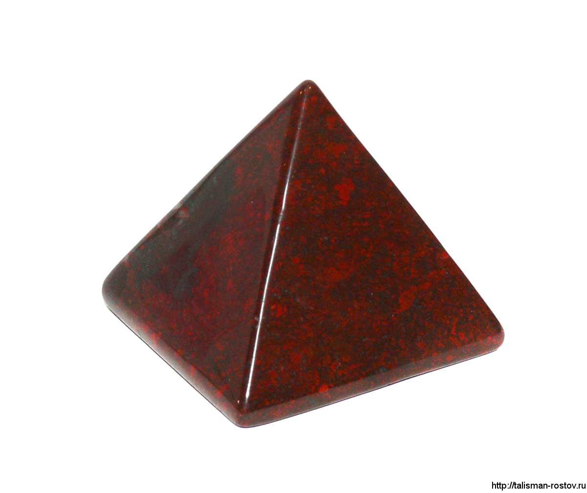 Пирамидка, яшма красная
