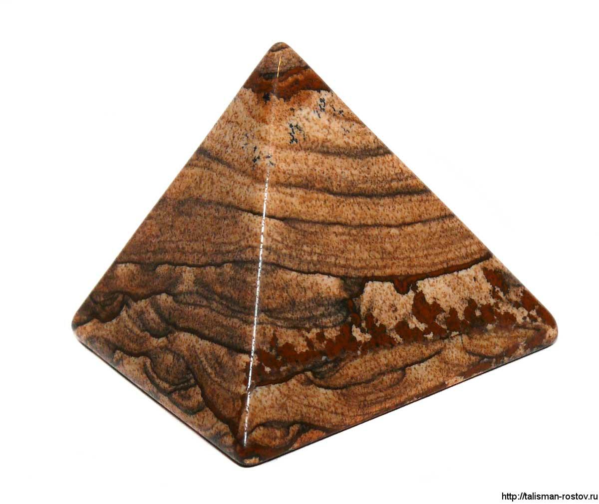 Пирамидка, яшма пейзажная