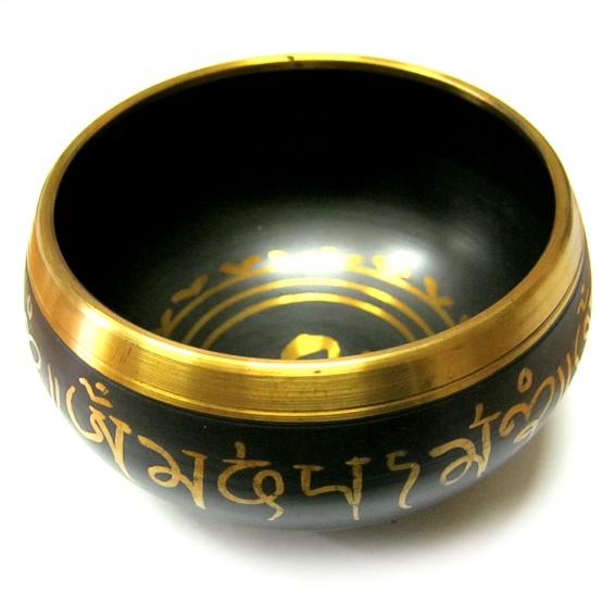 Тибетская чаша, черная, 11 см