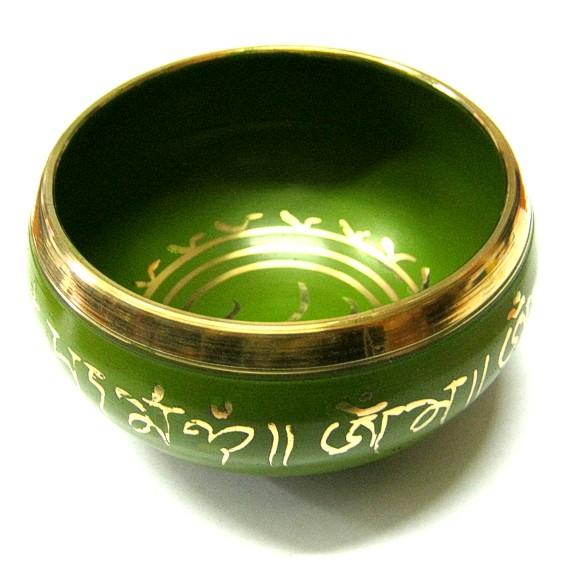 Тибетская чаша, цветная, 10 см