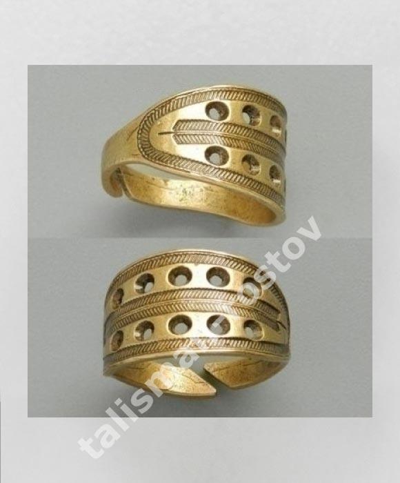 Новгородский решетчатый перстень, латунь