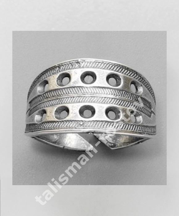 Новгородский решетчатый перстень, посеребрение