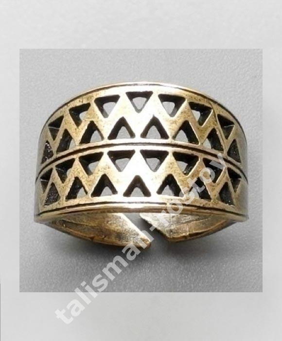 Вятичский Решетчатый Перстень, латунь