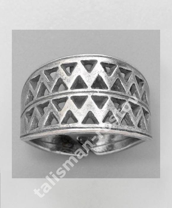 Вятичский Решетчатый Перстень, посеребрение